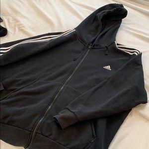 Black full zip adidas hoodie 3X